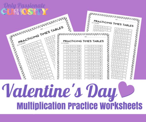 Free Valentine's Day Multiplication Worksheets   Free Homeschool ...