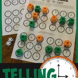 Free Telling Time Tic-Tac-Toe Game