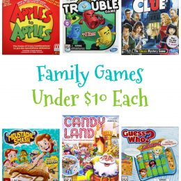 Family Games Under $10 Each!