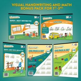 Visual Handwriting & Math Workbook Bundle for Grades 1-3 Only $21.67 + Free Shipping!