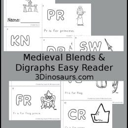 Free Medieval Blends & Digraphs Easy Reader Book