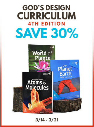 30% Off God's Design Science Curriculum
