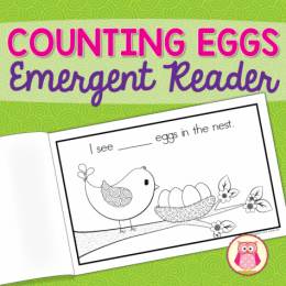 Free Counting Eggs Emergent Reader