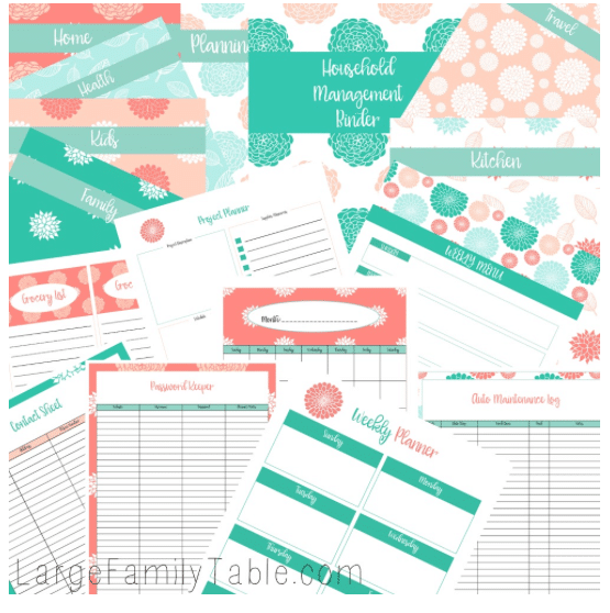 The Beautiful Household Management Binder Kit