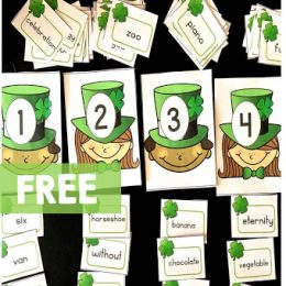 Free St. Patrick's Day Syllable Sort Printables