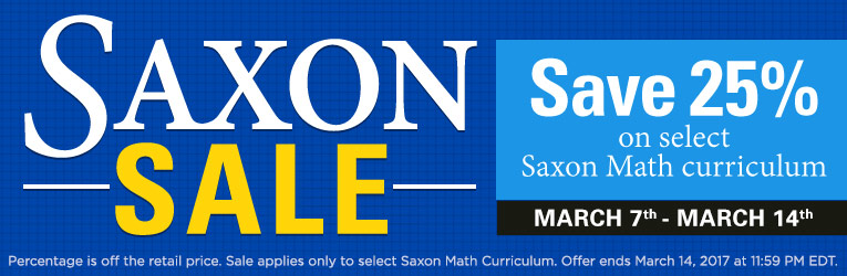 25% Off Saxon Math Curriculum - Limited Time!