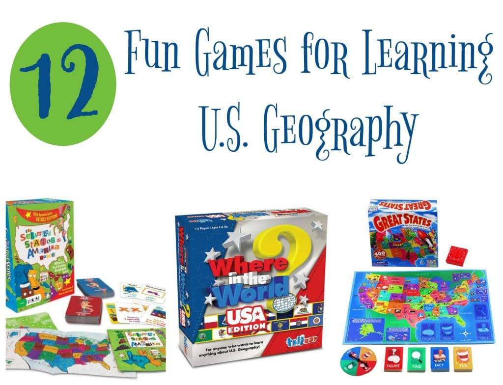 12 Fun Games for Learning U.S. Geography