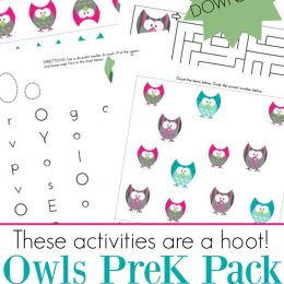 FREE OWLS PRESCHOOL PRINTABLE PACK (Instant Download)