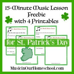 Free St. Patrick's Day Music Lesson w/ Free Printables