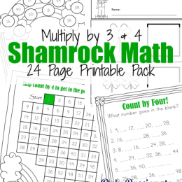 Free Shamrock Math Times Tables Printables