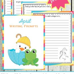 Free Elementary Writing Prompts for April – Limited Time!