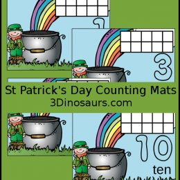 Free St. Patrick's Day Counting Mats
