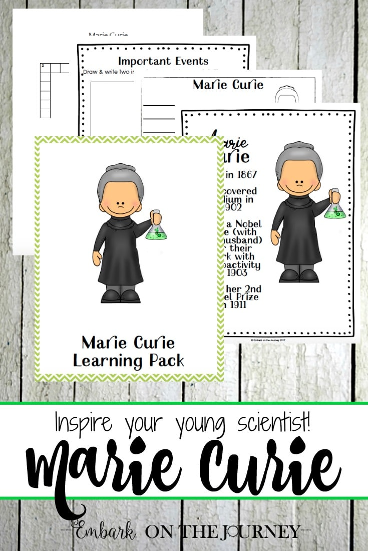 Free Marie Curie Unit Study for Grades K-3