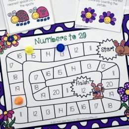 Free Counting Game for Spring (Numbers 11-20)