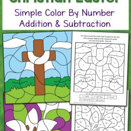Free Christian Easter Color By Number Worksheets