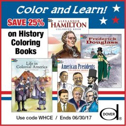 25% Off Dover History Coloring Books!