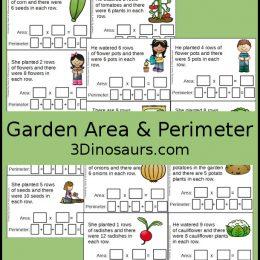 Free Garden Themed Area & Perimeter Cards