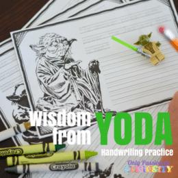 Free Wisdom from Yoda Copywork