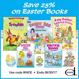 25% Off Dover Easter Books – Crafts, Stickers, Coloring Books, & More!