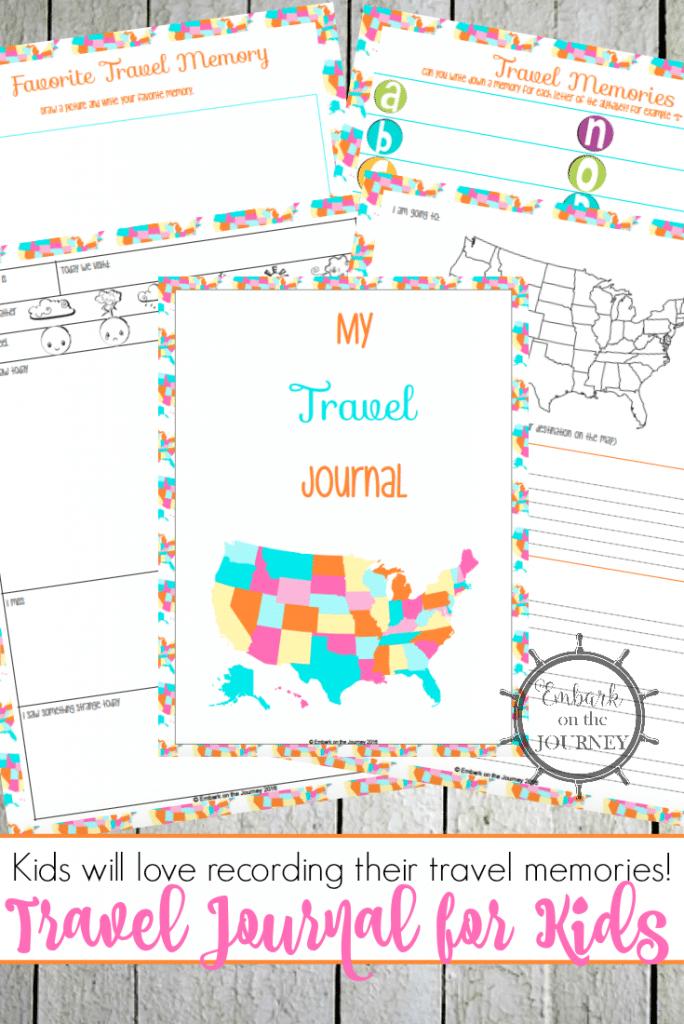 Free Travel Journal for Kids | Free Homeschool Deals