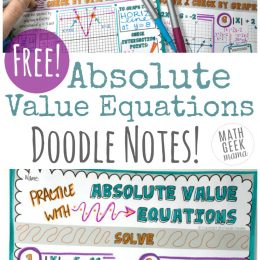 Free Absolute Value Equation Doodle Printable