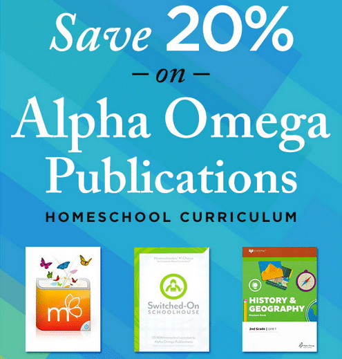 20% Off Alpha Omega Curriculum!