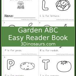 Free Garden Letters Easy Reader Book