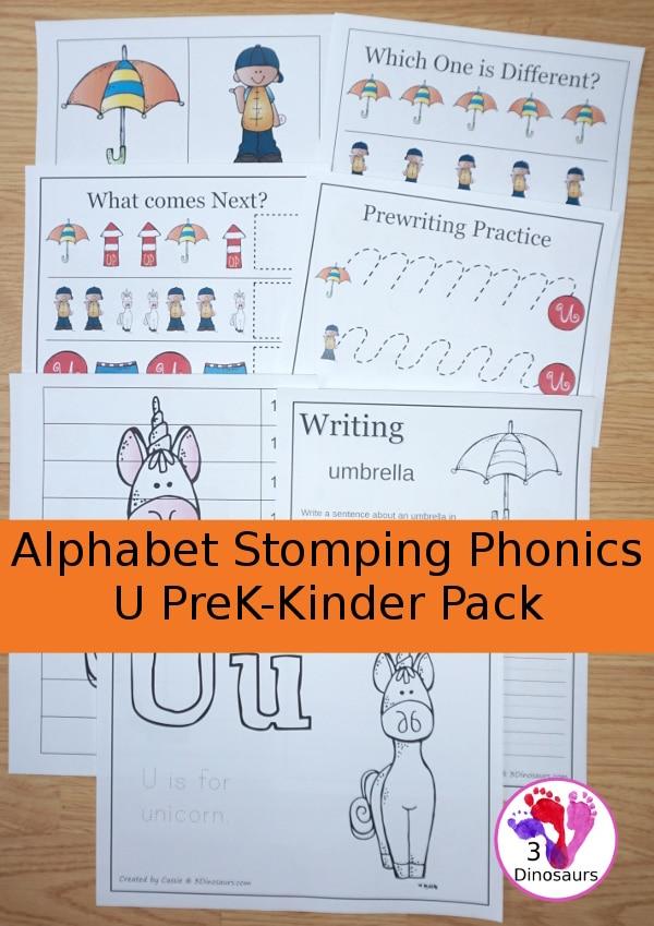 Free Letter U Phonics Pack