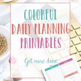 Free Colorful Daily Planning Printables