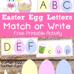 Free Easter Egg Letter Matching Worksheets