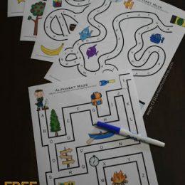 Free Alphabet Mazes