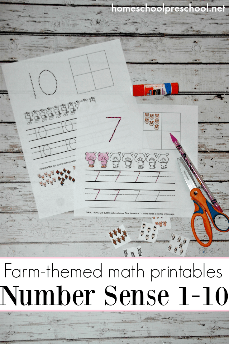 Free Farm Themed Number Worksheets