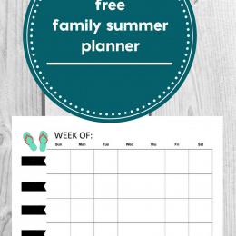 Free Summer Family Planner