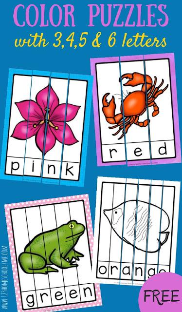 free color word puzzles free homeschool deals. Black Bedroom Furniture Sets. Home Design Ideas