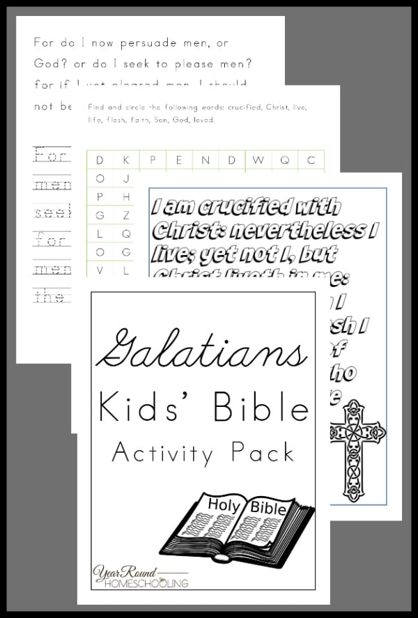 Free Galatians Bible Activity Pack for Kids