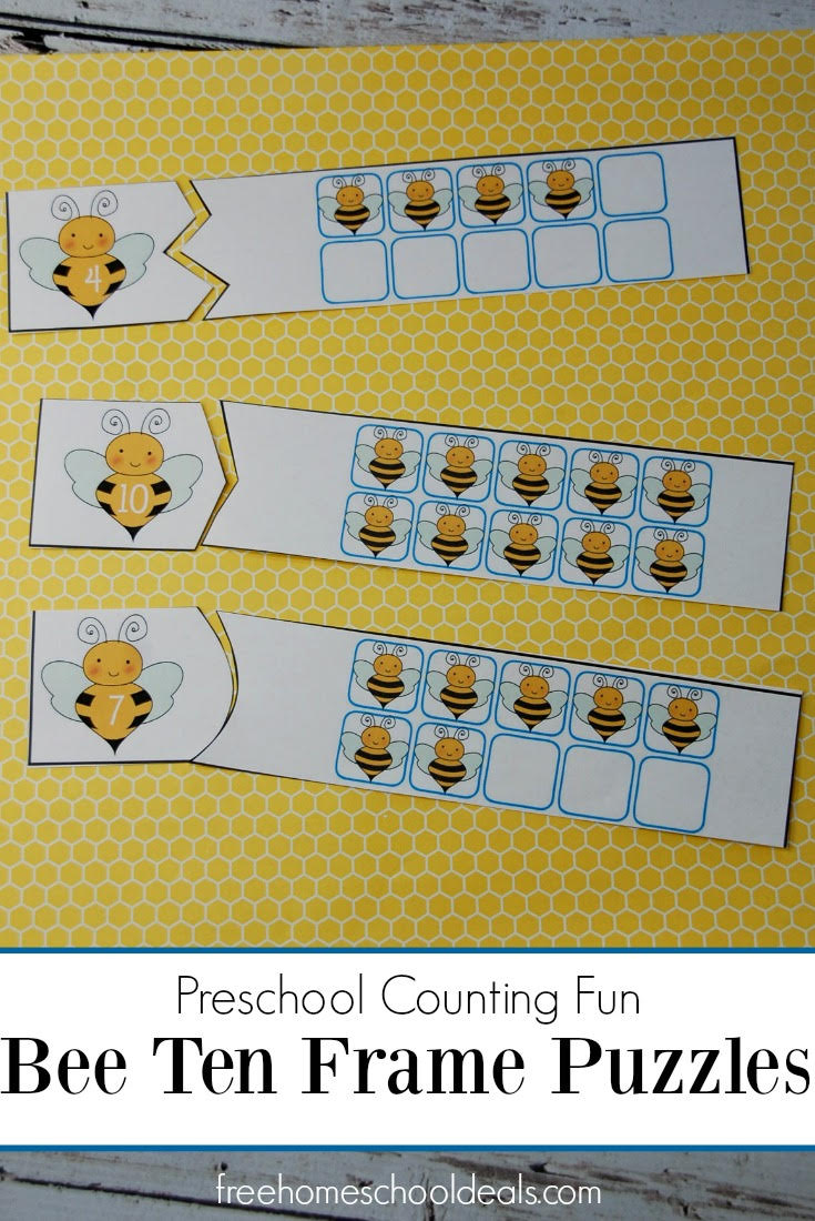 FREE BEE THEMED COUNTING PUZZLES (Instant Download)