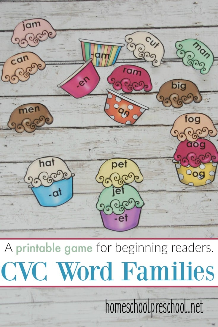 Free Ice Cream CVC Word Family Game