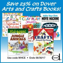 25% Off Dover Arts & Crafts Books