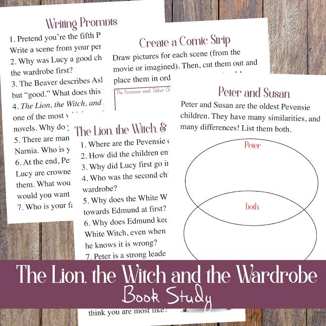 http://lastingthumbprints.com/the-lion-the-witch-and-the-wardobe-book-study-free-printables/