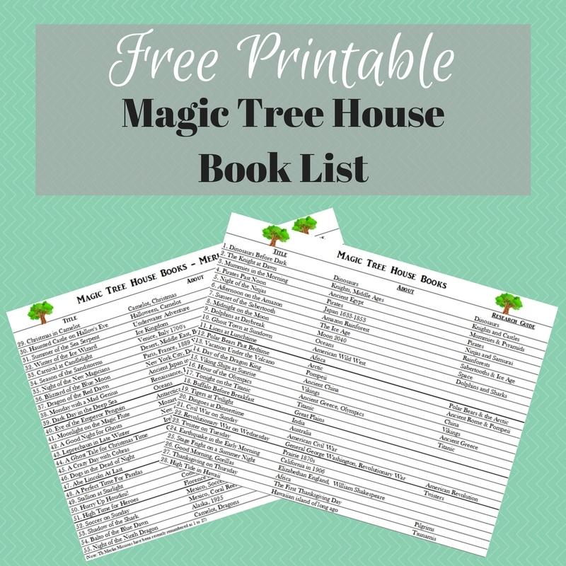Free Magic Tree House Book List Printable Free