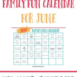 Free June Family Fun Calendar