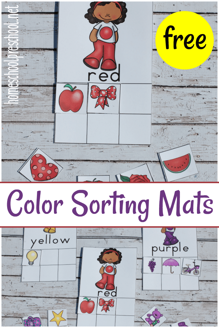 Free Color Sorting Mats and Cards