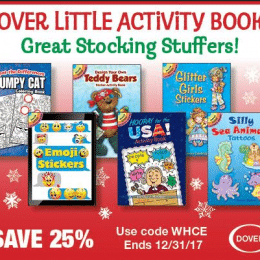 25% Off Dover Little Activity Books – Great Stocking Stuffers!