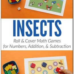 Free Insect Roll & Cover Math Games