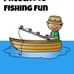 FREE FISHING THEMED PRESCHOOL PRINTABLES (Instant Download)