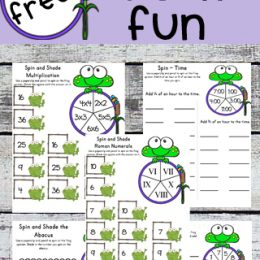 FREE Frog Math Worksheets (2nd-4th Grades)