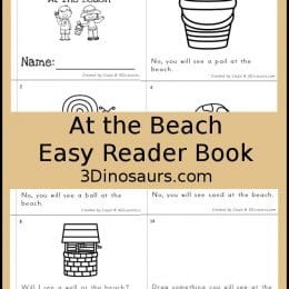 Free Fun At the Beach Easy Reader