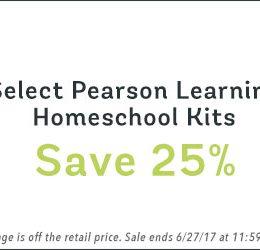 25% Off Select Pearson Learning Homeschool Kits