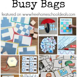 10 FREE Printable Busy Bags to Keep Young Learners Engaged