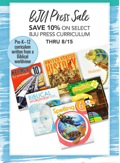 10% Off BJU Press Homeschool Curriculum